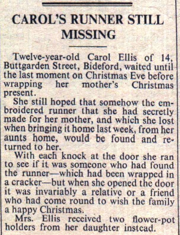 Carol Ellis lost her mother's Christmas present on the way home