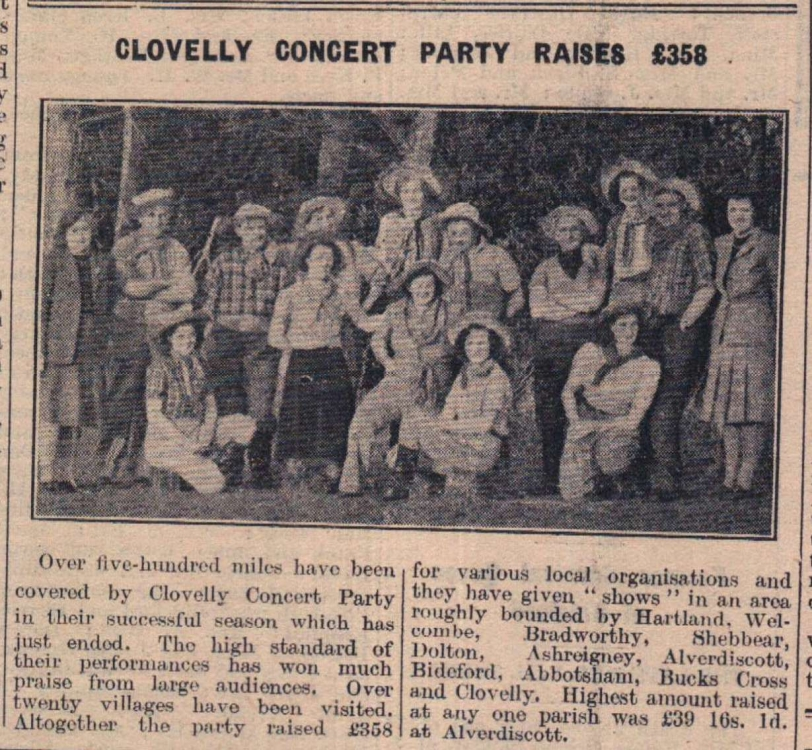 10.6.1947 Clovelly Concert Party