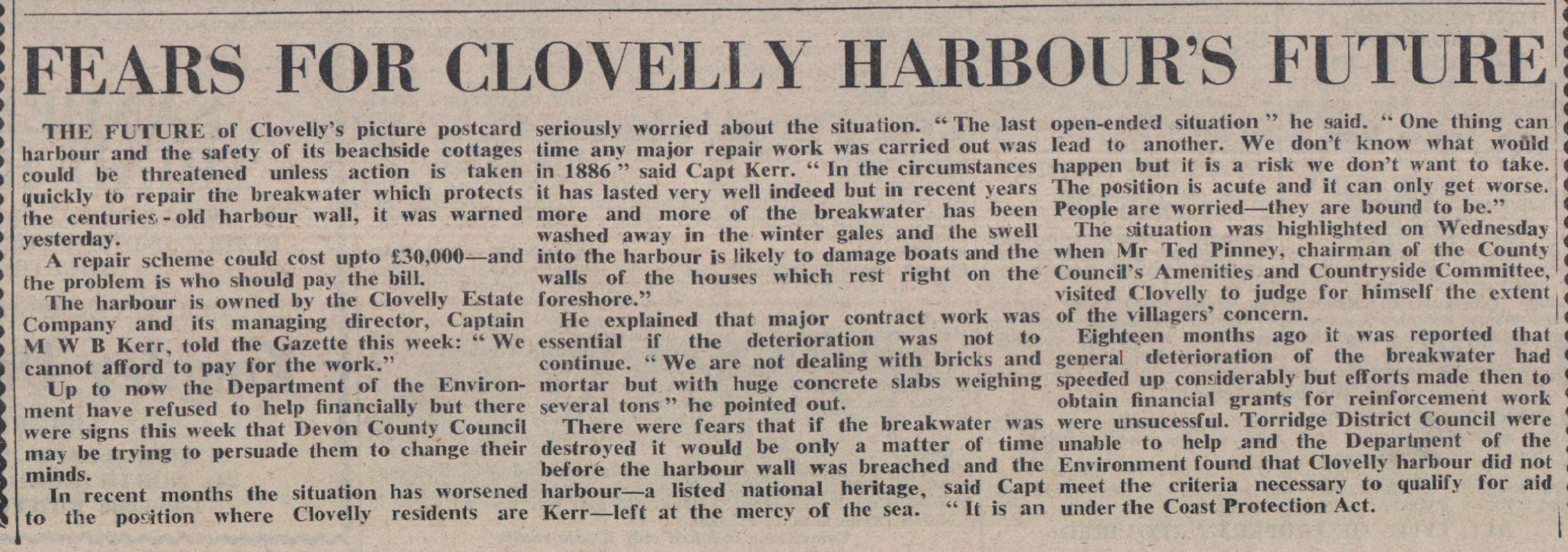 11.3.1977 Clovelly Harbour