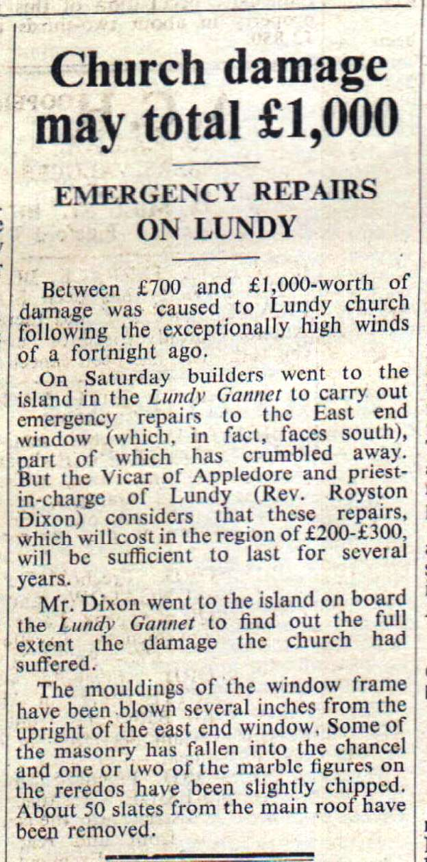 12.10.1962   Emergency repairs on Lundy