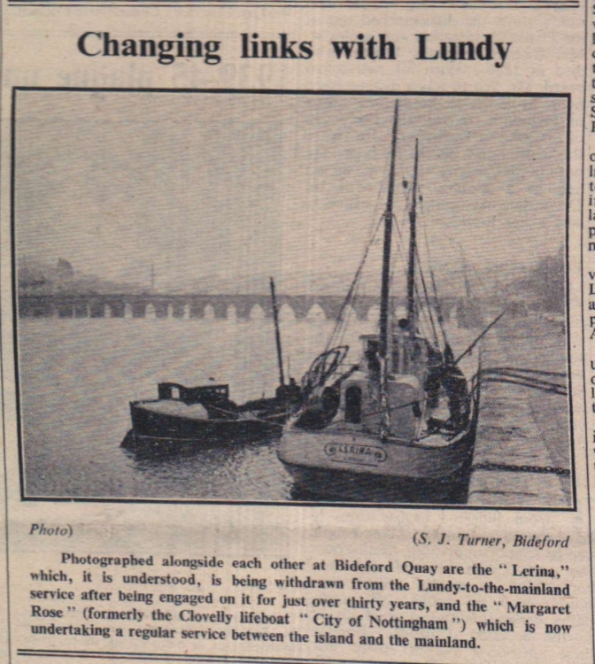 1950 Lundy boats