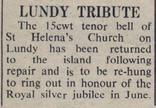 22.4.1977 Lundy bell