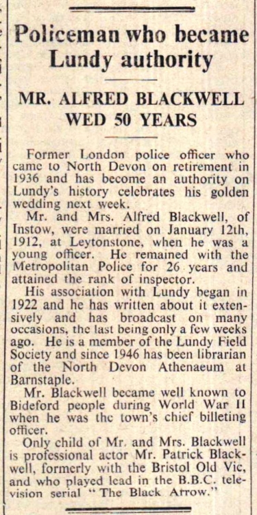 Mr Blackwell Lundy 1962 Policeman