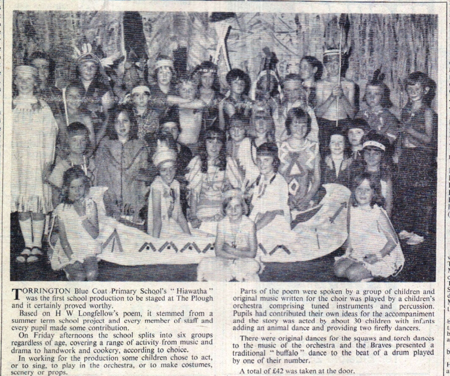 Torrington Blue Coat School performance of 'Hiawatha'