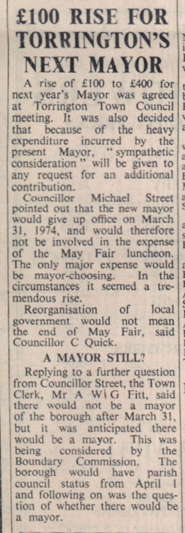 16.3.1973 Torrington Mayor rise