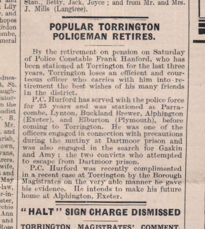 2.3.1937 Torrington policeman retires