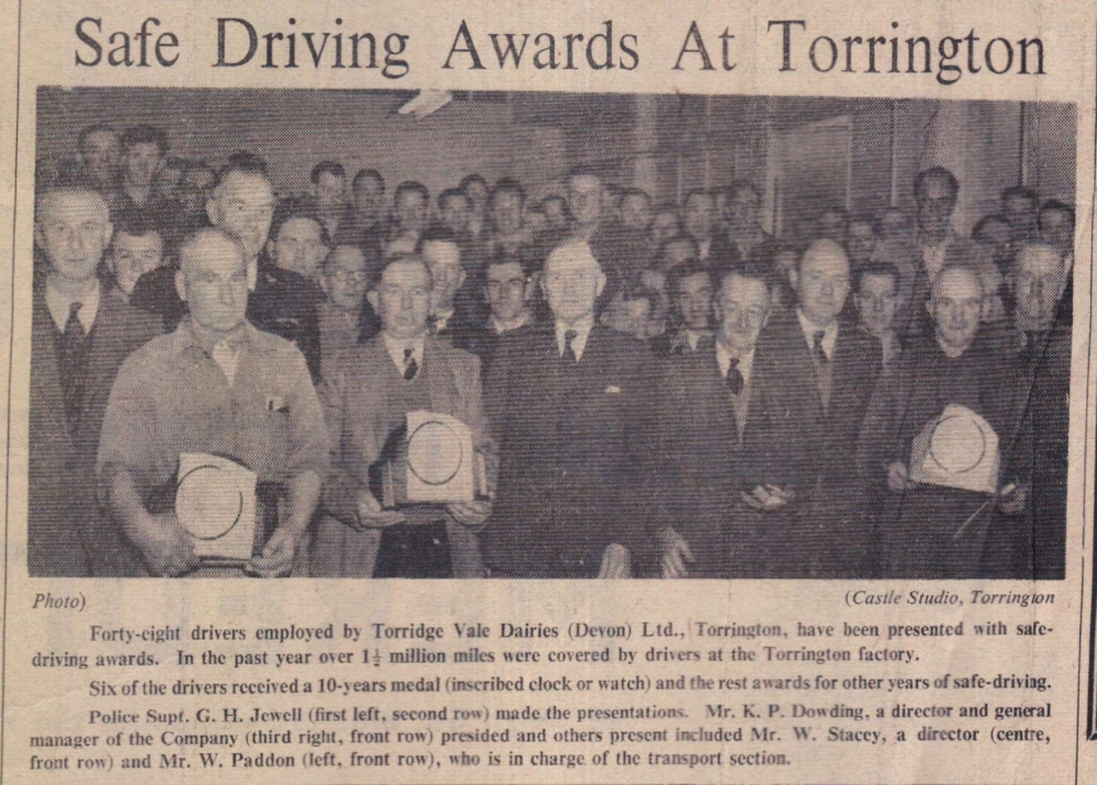 1958 Torrington safe driving awards