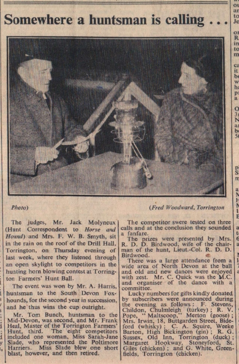 8.12.1950 horn blowing Torrington
