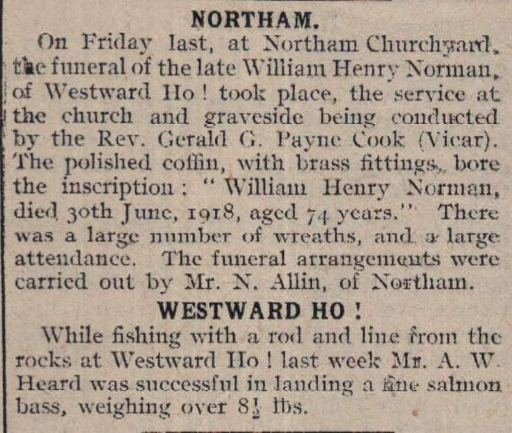 13.7.1918 Westward Ho