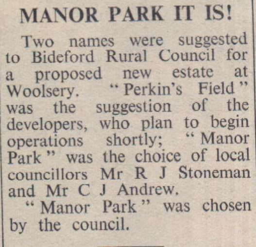 6.4.1973 Woolsery Manor Park